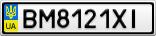 Номерной знак - BM8121XI