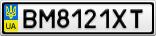 Номерной знак - BM8121XT