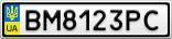 Номерной знак - BM8123PC