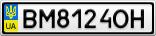 Номерной знак - BM8124OH