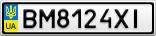 Номерной знак - BM8124XI