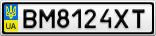 Номерной знак - BM8124XT