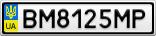 Номерной знак - BM8125MP