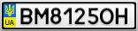 Номерной знак - BM8125OH