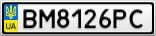 Номерной знак - BM8126PC
