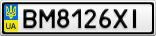 Номерной знак - BM8126XI