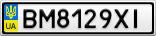 Номерной знак - BM8129XI