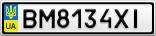 Номерной знак - BM8134XI