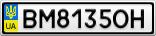 Номерной знак - BM8135OH