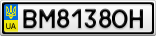 Номерной знак - BM8138OH