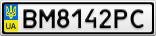 Номерной знак - BM8142PC