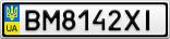 Номерной знак - BM8142XI