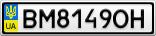 Номерной знак - BM8149OH