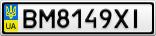 Номерной знак - BM8149XI