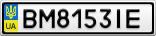 Номерной знак - BM8153IE