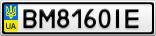 Номерной знак - BM8160IE