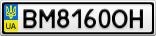 Номерной знак - BM8160OH