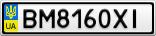 Номерной знак - BM8160XI