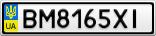 Номерной знак - BM8165XI
