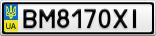 Номерной знак - BM8170XI