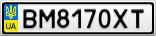 Номерной знак - BM8170XT