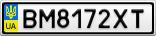Номерной знак - BM8172XT