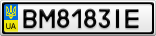 Номерной знак - BM8183IE