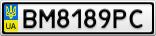Номерной знак - BM8189PC