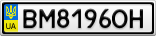 Номерной знак - BM8196OH