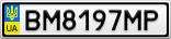 Номерной знак - BM8197MP
