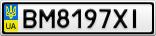 Номерной знак - BM8197XI