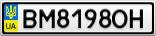 Номерной знак - BM8198OH