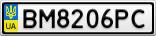 Номерной знак - BM8206PC