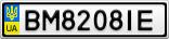 Номерной знак - BM8208IE