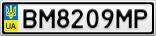 Номерной знак - BM8209MP