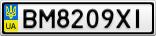 Номерной знак - BM8209XI