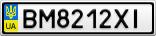 Номерной знак - BM8212XI