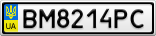 Номерной знак - BM8214PC