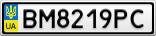 Номерной знак - BM8219PC