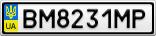 Номерной знак - BM8231MP