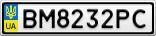 Номерной знак - BM8232PC