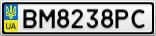 Номерной знак - BM8238PC