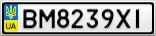 Номерной знак - BM8239XI
