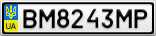 Номерной знак - BM8243MP