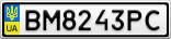 Номерной знак - BM8243PC