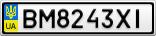 Номерной знак - BM8243XI