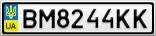 Номерной знак - BM8244KK