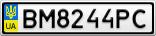 Номерной знак - BM8244PC