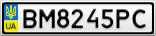 Номерной знак - BM8245PC