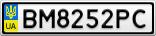Номерной знак - BM8252PC